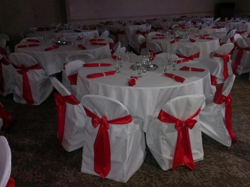 We Provide and Setup Linens as Well.